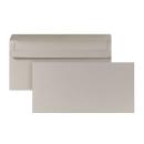 1.000 Briefumschläge DIN lang ohne Fenster grau