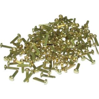500 Rundkopfklammern 7mm Kopf - 17mm Schenkel