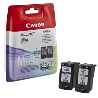 Original Druckerpatronen Canon PG-510 / CL-511 Kombipack - 2970B010