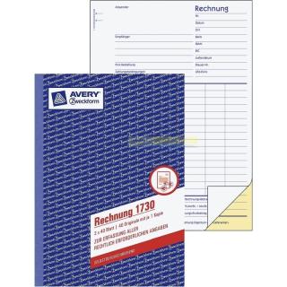 Zweckform 1730  Rechnung A5 2x 40 Blatt SD