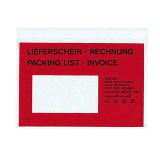 250 Dokumententaschen C6 Lieferschein/Rechnung