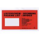 250 Dokumententaschen DIN Lang Lieferschein/Rechnung