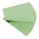 100 Trennstreifen, gelocht, grün 160g/m²