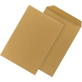 250 Versandtaschen DIN B4 braun 110g/qm selbstklebend