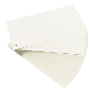100 Trennstreifen, gelocht, weiß 160g/m²