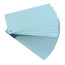 100 Trennstreifen, gelocht, hell blau 190g/m²