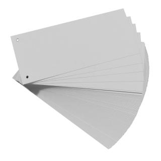 100 Trennstreifen, gelocht, grau 160g/m²