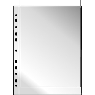 100 Prospekthüllen A4 Glasklar