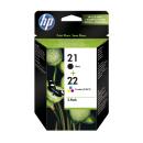2 Original Druckerpatronen HP 21 & 22 - SD367AE