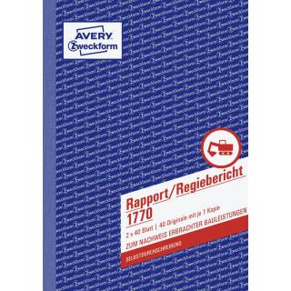 Zweckform Rapport/Regiebericht - 1770