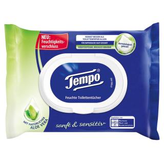 Tempo Feuchtes Toilettenpapier Aloe Vera 42 Blatt sanft & sensitiv