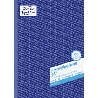 Zweckform Kassenabrechnung 427 A4 2x 50 Blatt