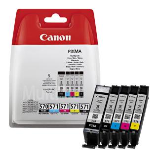 Original Druckerpatronen Canon PGI-570 + CLI-571 BK/C/M/Y Set - 0372C004
