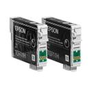 Original Druckerpatronen Epson T0711H im Doppelpack schwarz