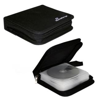 MediaRange CD Mappe aus Nylon für 24 Discs, schwarz CD DVD Wallet BOX50