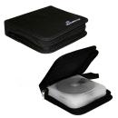 MediaRange CD Mappe aus Nylon für 24 Discs, schwarz...