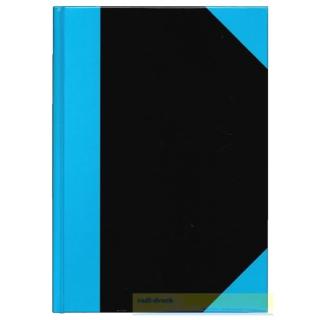 Kladde DIN A7, schwarz/blau,liniert