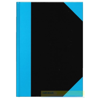 10x Kladde DIN A7, schwarz/blau,liniert