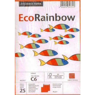 25 EcoRainbow Briefumschläge Orange C6