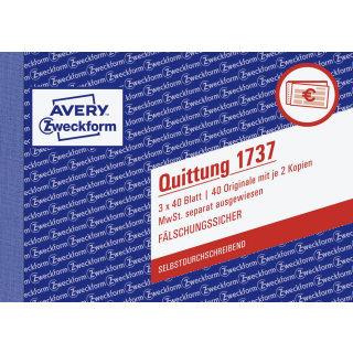 Zweckform Quittungsblock 1737