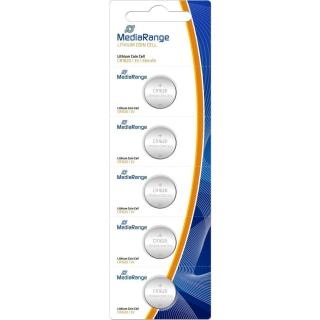5 MediaRange Knopfzellen CR 1620 3V