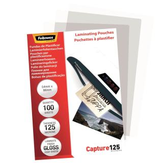 100 Laminierfolien 2x 125Mic - 54 x 86 mm - Fellowes