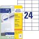 600 AVERY Zweckform Etiketten 6173 weiß