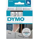 DYMO Beschriftungsband D1 schwarz auf transparent 12 mm - 45010