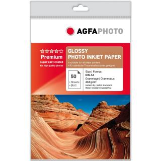 50 Blatt AgfaPhoto Fotopapier Inkjet A4 210g Glänzend