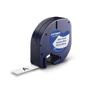 DYMO Beschriftungsband 91221 schwarz auf weiß 12 mm Plastic