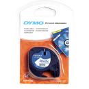 DYMO Beschriftungsband 91221 schwarz auf weiß 12 mm...