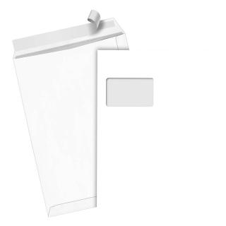 250 Versandtaschen C4 Weiß mit Fenster HK