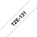 P-Touch Schriftbandkassette TZE-131 (schwarz auf transparent, laminiert)