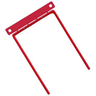 100 Abheftbügel D-Clip rot Bündelungsbügel