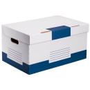 10 Archivcontainer weiß/blau