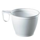 60 PAPSTAR Einweg-Kaffeetassen Kunststoff weiß mit...