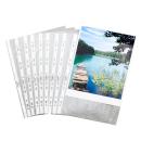 100 Durable Prospekthüllen transparent genarbt DIN A4