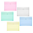 10 FolderSys Umlauftaschen farbsortiert glatt  DIN A5