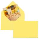25 MAILmedia Briefumschläge gelb EcoRainbow B6 ohne...