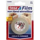 tesa Klebefilm transparent 19,0 mm x 25,0 m, 1 Rolle