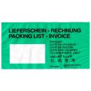 1000 Papier-Lieferscheintaschen Rechnung DIN lang grün