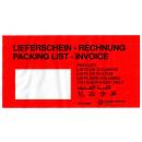 1000 Papier-Lieferscheintaschen Rechnung DIN lang rot