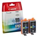 Original Druckerpatronen Canon CLI-36 color Twin-Pack