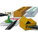 4 FABER-CASTELL 1503 Permanentmarker farbsortiert 1,0 - 5,0 mm