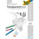 folia Transparentpapier DIN A4, 80 g/qm, 25 Blatt