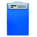 Klemmbrett DIN A4 blau Kunststoff mit Solar-Rechner