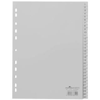 DURABLE Register DIN A4, 1-31 grau 31-teilig