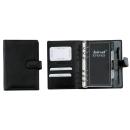 bind Terminplaner DIN A6 Leder schwarz