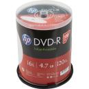 HP 100 DVD-R Rohlinge 16fach, 4,7GB Spindel