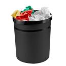 HAN Grip Papierkorb 18,0 l schwarz Kunststoff